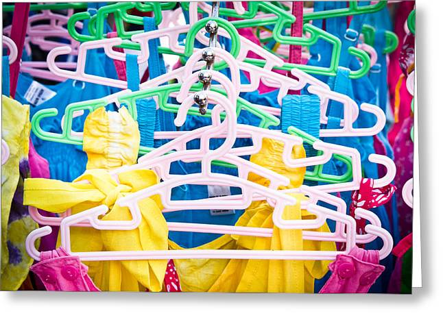 Apparel Greeting Cards - Colorful tops Greeting Card by Tom Gowanlock