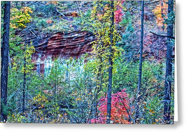 West Fork Digital Greeting Cards - Colorful Wall Greeting Card by Brian Lambert
