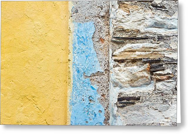 Border Photographs Greeting Cards - Colorful wall Greeting Card by Tom Gowanlock
