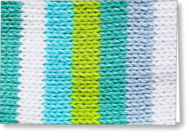 Knitwear Greeting Cards - Colorful wool Greeting Card by Tom Gowanlock