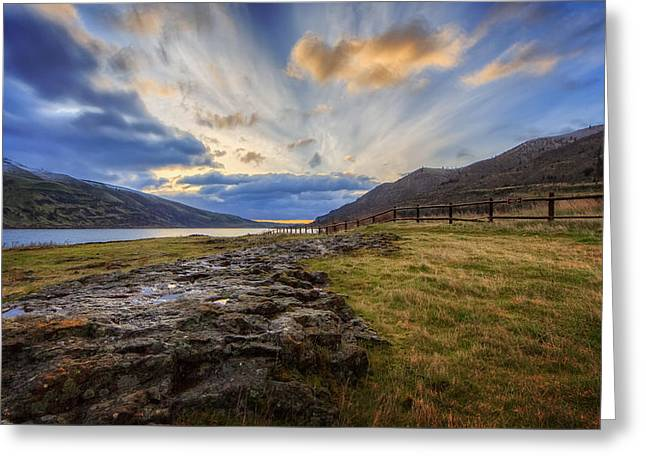 Columbia River Gorge Greeting Cards - Columbia River Gorge Greeting Card by Everet Regal