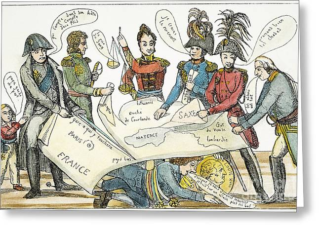 Act Iii Greeting Cards - Congress Of Vienna 1815 Greeting Card by Granger