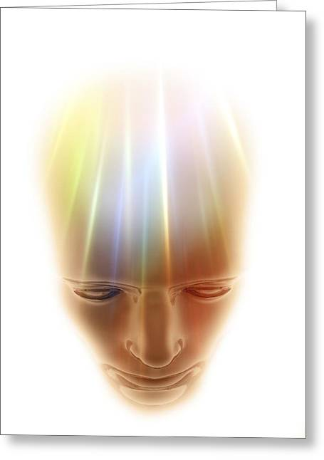 Consciousness, Conceptual Artwork Greeting Card by Science Photo Library