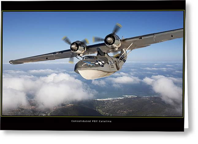 Pby Catalina Greeting Cards - Consolidated PBY Catalina Greeting Card by Larry McManus