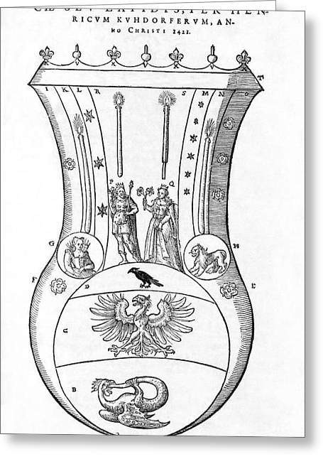 Symbology Greeting Cards - Container For The Philosophers Stone Greeting Card by Middle Temple Library