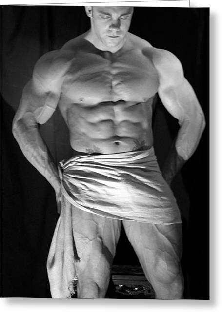 Pecs Digital Greeting Cards - Contemplation Greeting Card by Jake Hartz
