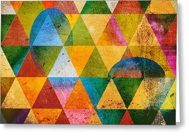 Surreal Geometric Greeting Cards - Contemporary Greeting Card by Mark Ashkenazi