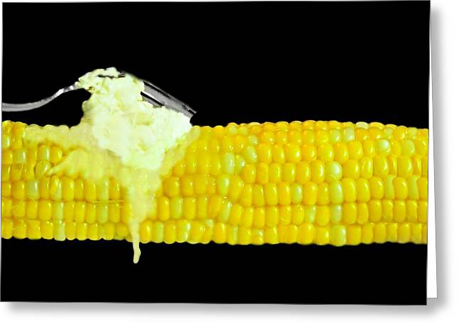 Deli Greeting Cards - Corn on the Cob with Butter Greeting Card by Diana Angstadt