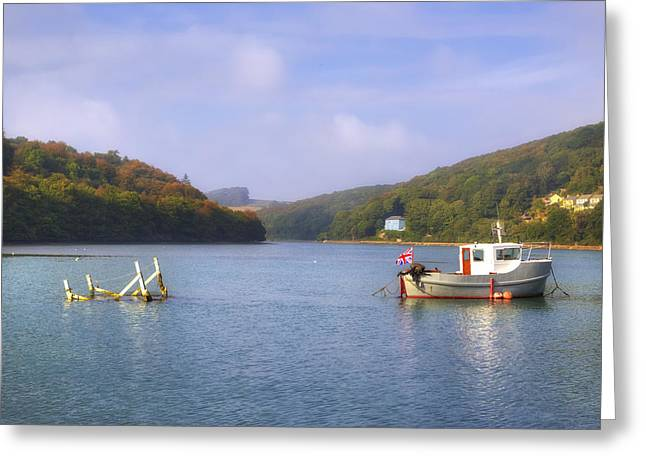 Fishing Port Greeting Cards - Cornwall - Looe Greeting Card by Joana Kruse