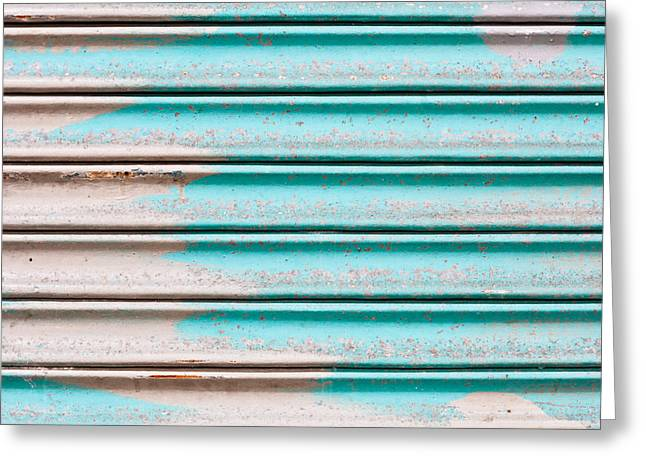 Metallic Sheets Greeting Cards - Corrugated metal Greeting Card by Tom Gowanlock