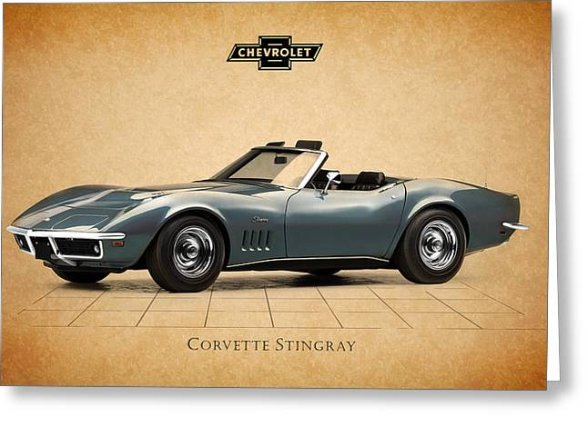 Stinging Greeting Cards - Corvette Stingray Greeting Card by Mark Rogan