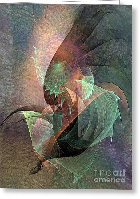 Cosmic Mixed Media Greeting Cards - Cosmic Tundra Greeting Card by John Robert Beck