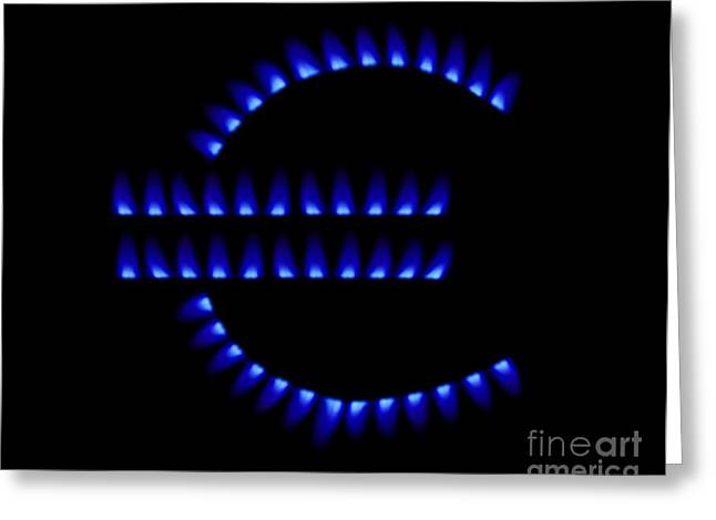 Energy Currency Greeting Cards - Cost Of Gas, Conceptual Image Greeting Card by Victor de Schwanberg