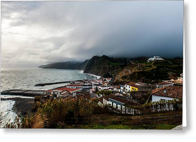 China Beach Greeting Cards - Cost over Povoacao caldera Greeting Card by Joseph Amaral