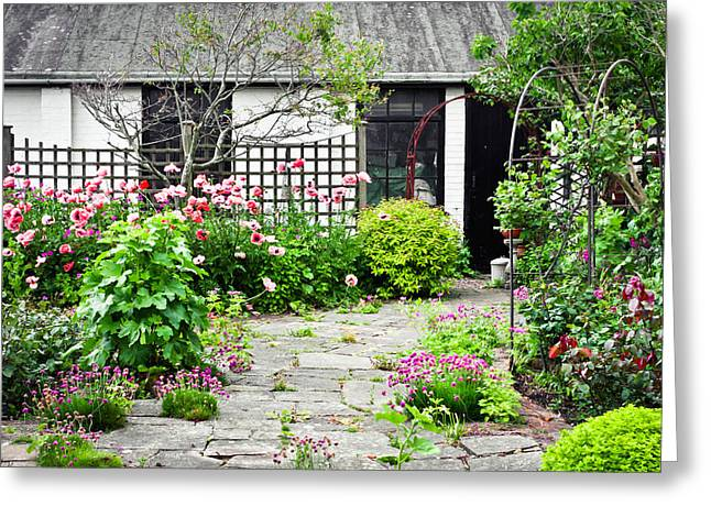 Arch Greeting Cards - Cottage garden Greeting Card by Tom Gowanlock