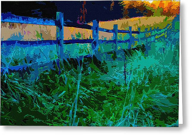 Old Fence Posts Digital Greeting Cards - Country Fence Greeting Card by Brian Stevens