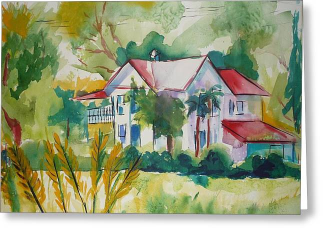 Country Home Greeting Card by Suzanne Willis