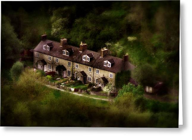 History Derbyshire Greeting Cards - Country House in Bakewell Town Peak District - England Greeting Card by Michael Braham