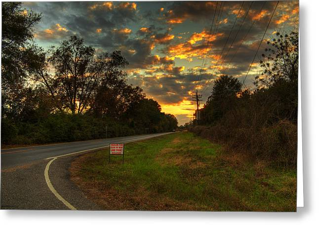 Meadown Greeting Cards - Country Road Greeting Card by Ester  Rogers