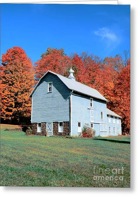 Interior Scene Greeting Cards - Country Scene Greeting Card by Kathleen Struckle