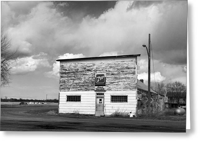 Country Small Town Tavern - Fine Art Print - North Dakota Greeting Card by Donald  Erickson
