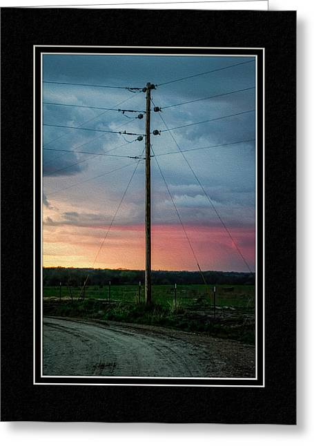 Matting Greeting Cards - Country Sunset Greeting Card by Charles Feagans