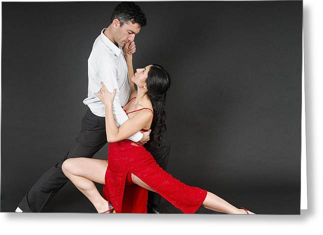 Knockout Greeting Cards - Couple dances tango  Greeting Card by Ilan Rosen