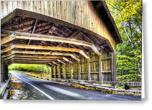Scenic Drive Greeting Cards - Covered Bridge at Sleeping Bear Dunes Greeting Card by Twenty Two North Photography