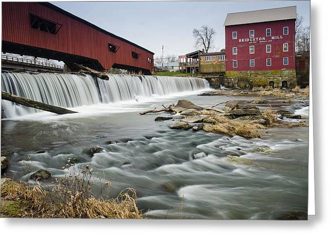 Bridgeton Mill Greeting Cards - Covered Bridge Greeting Card by Daniel Clark Webb