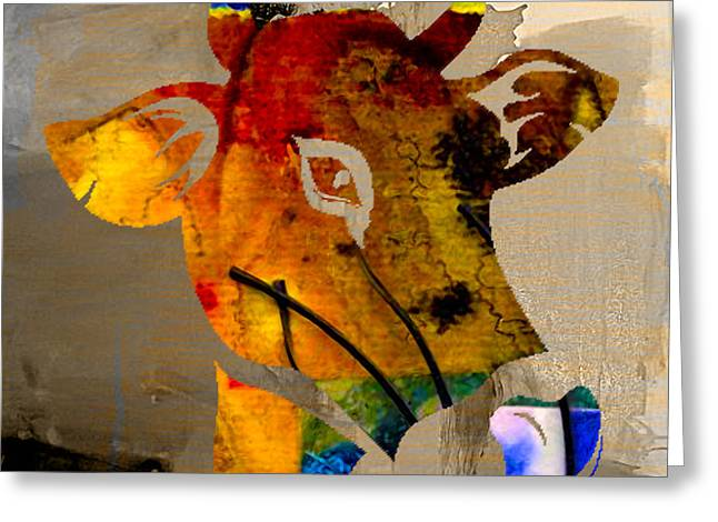 Skull Greeting Cards - Cow Greeting Card by Marvin Blaine