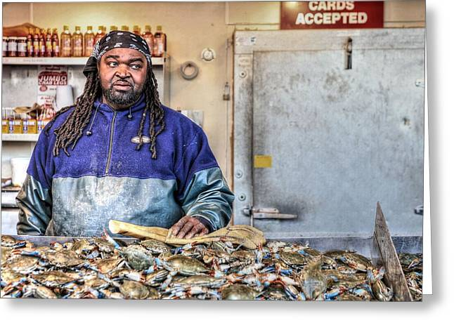 Black Man Greeting Cards - Crabby  Greeting Card by JC Findley