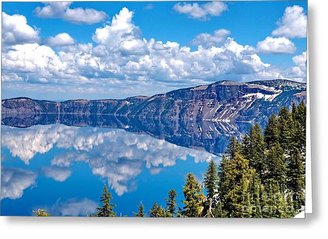 My Ocean Greeting Cards - Crater Lake Greeting Card by   FLJohnson Photography