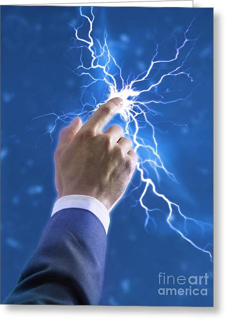 Electric Creation Greeting Cards - Creativity, Conceptual Image Greeting Card by Science Photo Library
