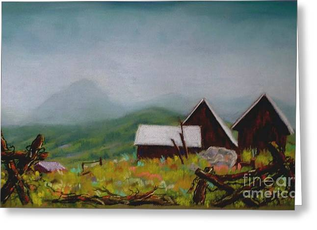 Crested Butte Barns Greeting Card by Judy Sprague