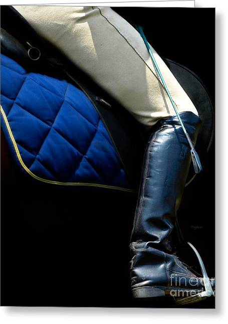 Dressage Photographs Greeting Cards - Crop and Boot  Greeting Card by Steven  Digman