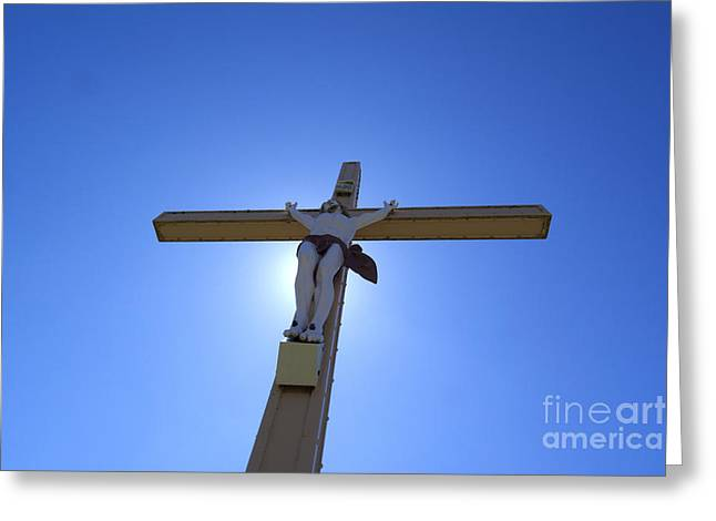 Crucifix Greeting Card by Bernard Jaubert
