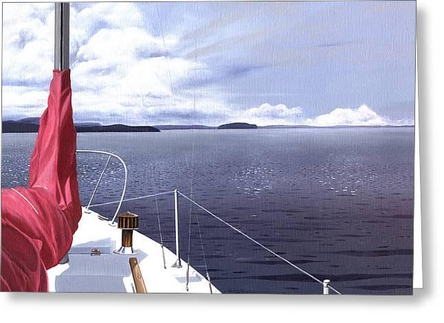 Cruising North Greeting Card by Gary Giacomelli
