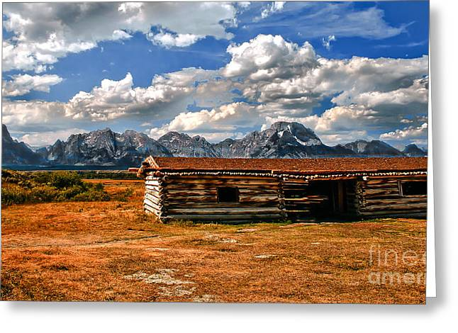 Log Cabins Greeting Cards - Cunningham Cabin III  Greeting Card by Robert Bales