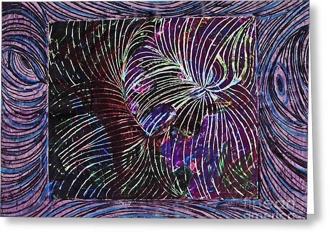 Curved Lines 1 Greeting Card by Sarah Loft