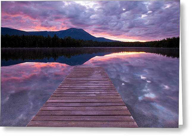 Baxter Park Greeting Cards - Daicey Pond Sunrise Greeting Card by Patrick Downey