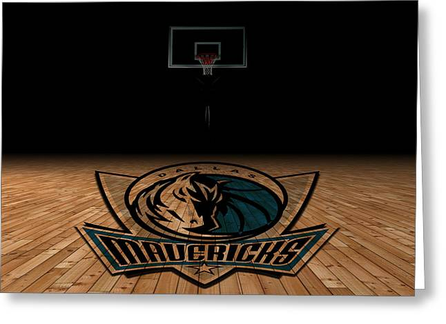 Dallas Mavericks Greeting Card by Joe Hamilton