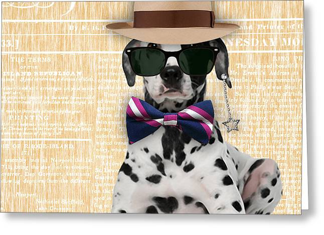 Man Cave Greeting Cards - Dalmatian Bowtie Collection Greeting Card by Marvin Blaine