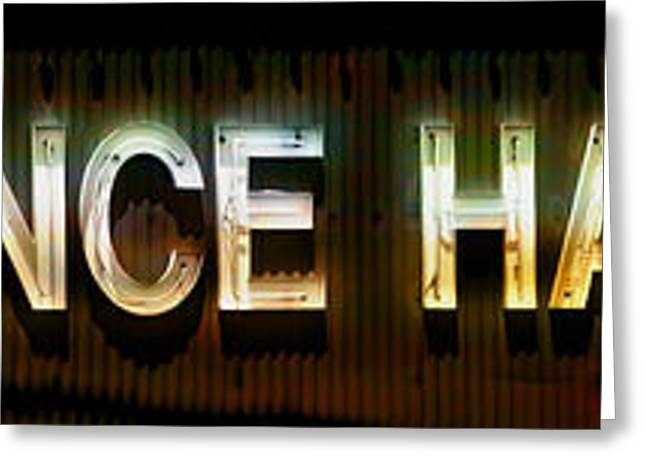 Saloons Greeting Cards - Dance Hall Sign Greeting Card by Gunter Nezhoda