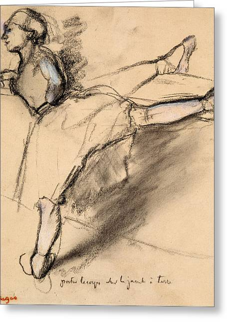 Etching Greeting Cards - Dancer at the bar Greeting Card by Edgar Degas