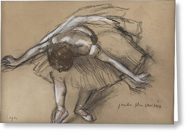 Dancer Greeting Card by Edgar Degas