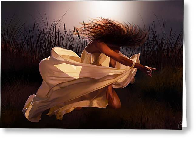 Tablets Greeting Cards - Dancing Soul Greeting Card by Kate Black