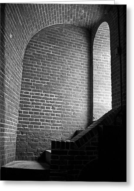 Dark Brick Passageway Greeting Card by Frank Romeo