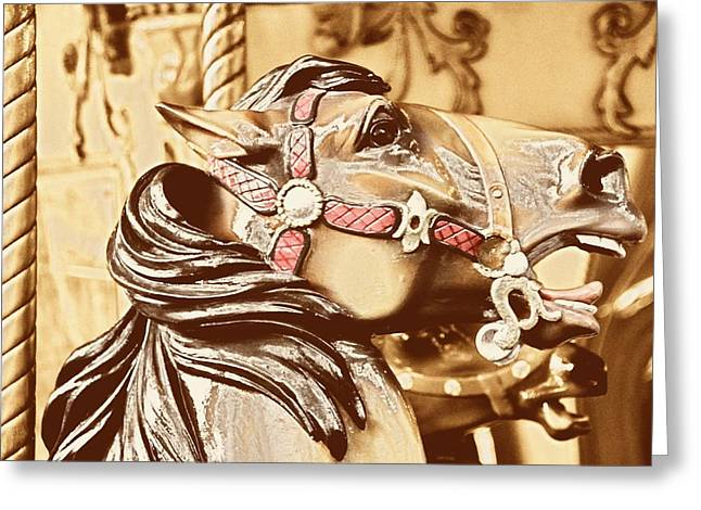 DASHING HORSES Greeting Card by JAMART Photography