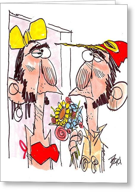 Jeff Foxworthy Greeting Cards - Dating Service Mix Up Greeting Card by David Boyd