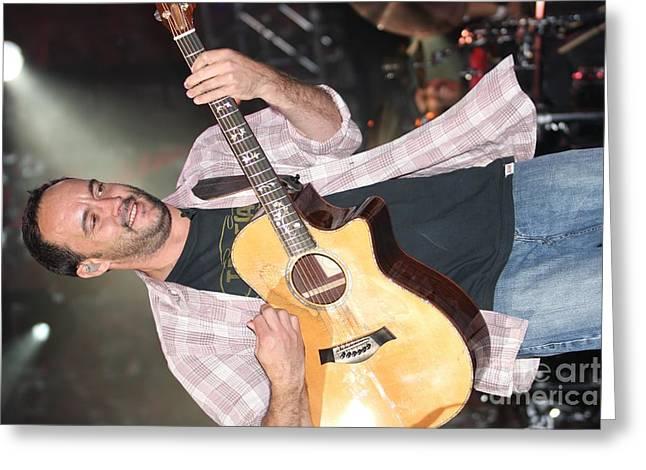 Dave Matthews Band Concert Greeting Cards - Dave Matthews Greeting Card by Front Row  Photographs